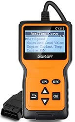Scanner diagnostica auto GEKER OBD2